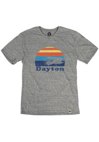 Dayton Grey Sunset Plane Short Sleeve T Shirt