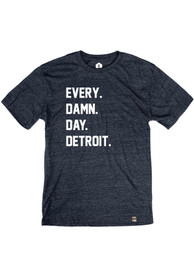 Detroit Navy Every Damn Day Short Sleeve T Shirt