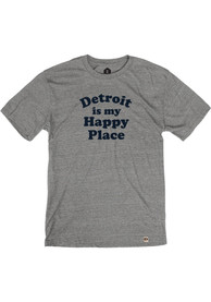 Detroit Grey Happy Place Short Sleeve T Shirt