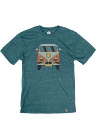 Detroit Teal VW Van Short Sleeve T Shirt