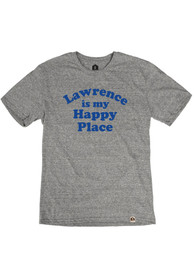Lawrence Heather Grey Happy Place Short Sleeve T Shirt
