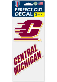 Central Michigan Chippewas 4x4 inch 2 Pack Auto Decal - Red