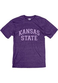 K-State Wildcats Arch Team Name Fashion T Shirt - Purple