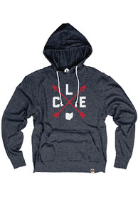 Cleveland Navy Distressed Arrows Long Sleeve T-Shirt Hood
