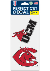 Central Missouri Mules 4x4 inch 2 Pack Auto Decal - Red