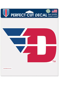 Dayton Flyers 8x8 inch Auto Decal - Red
