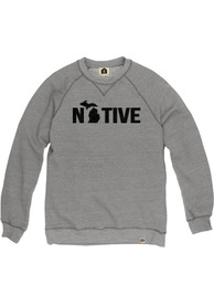 Michigan Native Crew Sweatshirt - Grey