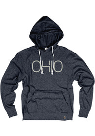 Ohio Navy Disconnected Long Sleeve T-Shirt Hood