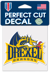 Drexel Dragons 4x4 Auto Decal - Yellow