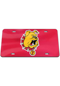 Ferris State Bulldogs Mascot Car Accessory License Plate