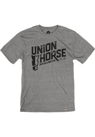 Union Horse Distilling Co. Heather Grey Short Sleeve T Shirt