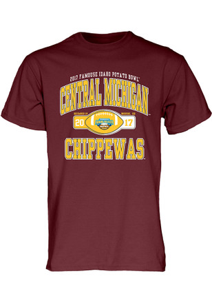Central Michigan Chippewas Mens Maroon Tailslide Tee