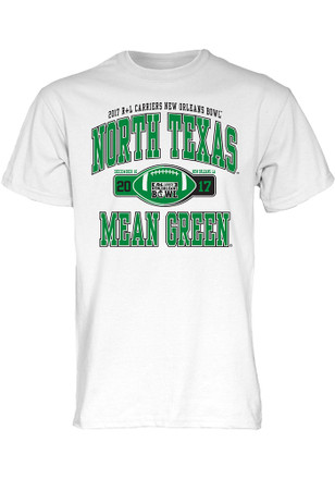 North Texas Mean Green Mens White Tailslide Tee
