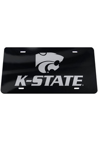 K-State Wildcats Black Mascot Wordmark Car Accessory License Plate