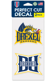 Drexel Dragons 4x4 2 Pack Auto Decal - Blue