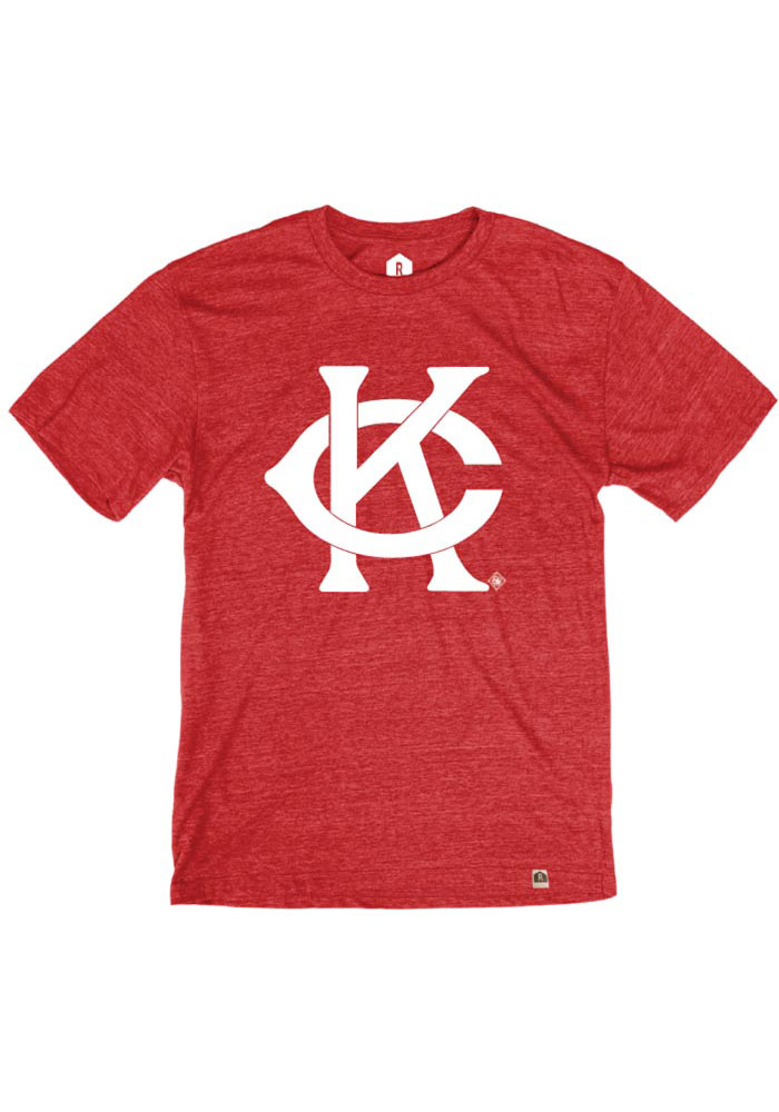 Kansas City Monarchs Red Intertwined KC Short Sleeve Fashion T Shirt - Image 1