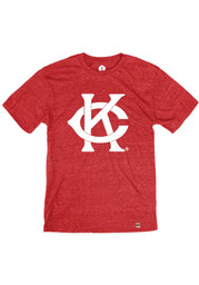 Rally Kansas City Monarchs Red Intertwined K And C Short Sleeve Fashion T Shirt