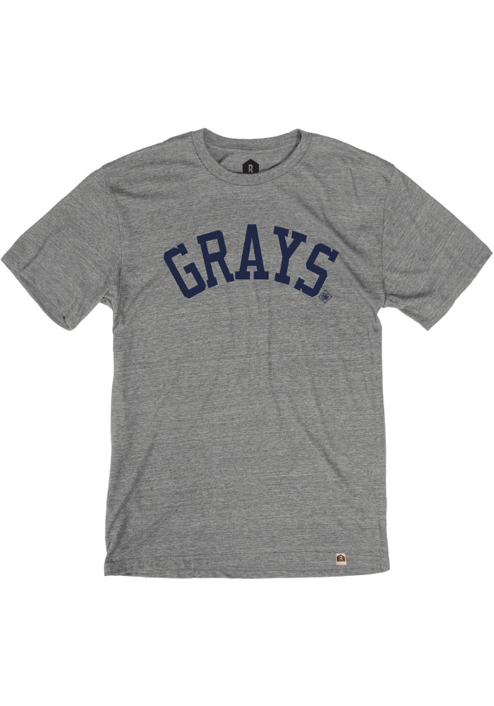 Homestead Grays Grey Arched Block Short Sleeve Fashion T Shirt - Image 1