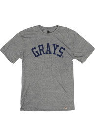 Homestead Grays Rally Arched Block Fashion T Shirt - Grey