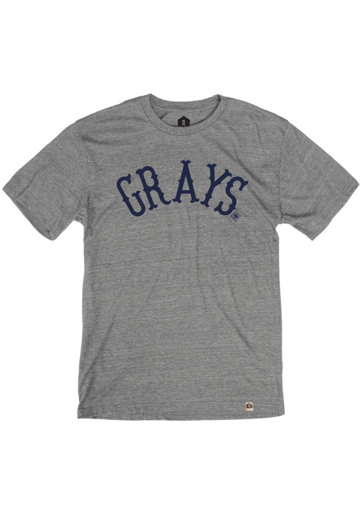 Rally Homestead Grays Grey Arched Fancy Short Sleeve Fashion T Shirt - Image 1