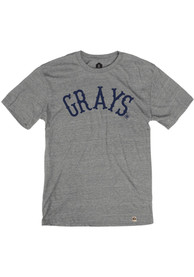 Homestead Grays Rally Arched Fancy Fashion T Shirt - Grey