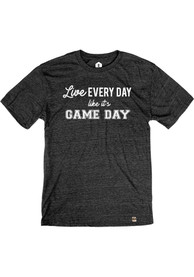 Rally Black Live Like Gameday Short Sleeve T Shirt