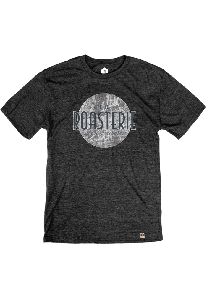 The Roasterie Coffee Map Black Short Sleeve T Shirt - Image 1