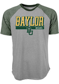 Baylor Bears Mock Twist Raglan Fashion T Shirt - Grey