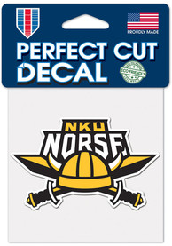 Northern Kentucky Norse 4x4 Auto Decal - Yellow