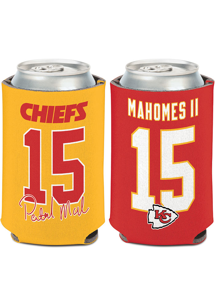 Kansas City Chiefs Patrick Mahomes Name and Number 12oz Can Coolie - Image 1