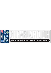 Cleveland 3x10 Rock and Roll Capital Auto Decal - White