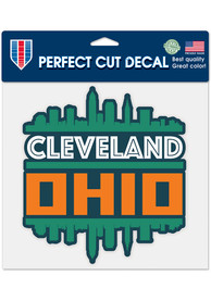 Cleveland 8x8 Upside Down City Auto Decal - Green