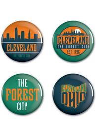 Cleveland 4 Pack Buttons Button