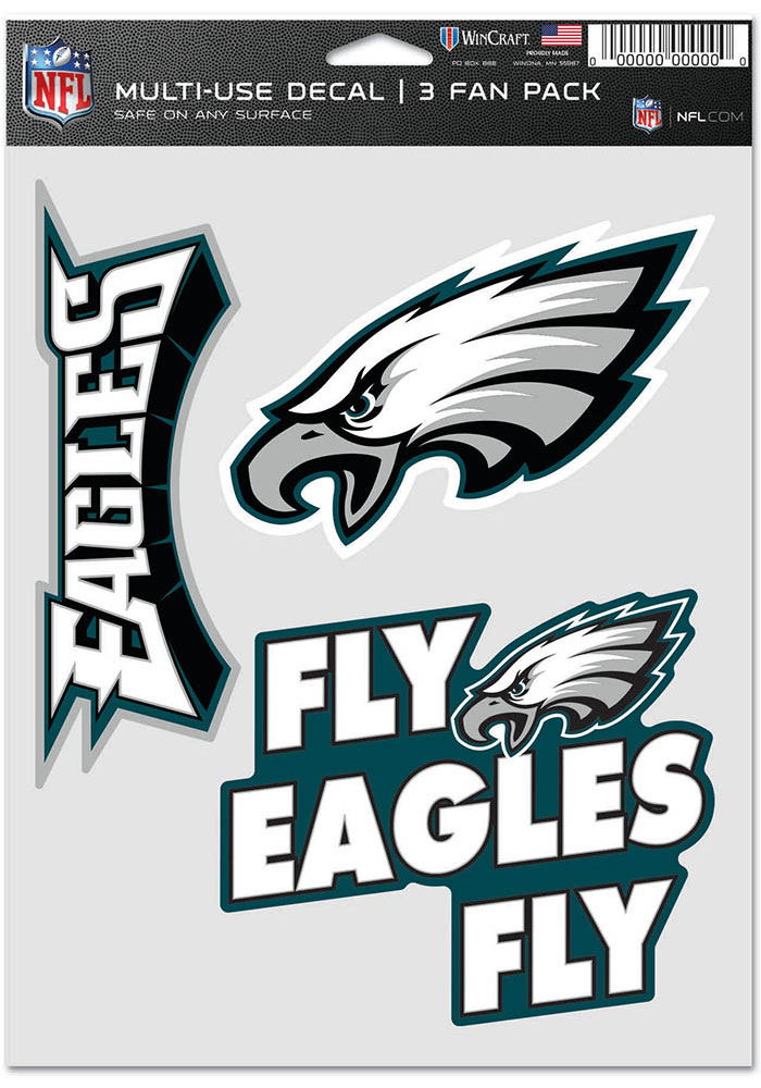 Philadelphia Eagles Triple Pack Auto Decal - Green - Image 1