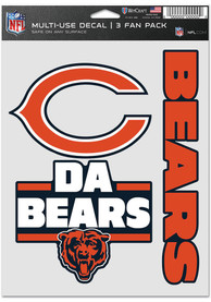 Chicago Bears Triple Pack Auto Decal - Orange