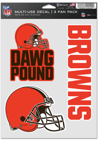 Cleveland Browns Triple Pack Auto Decal - Orange