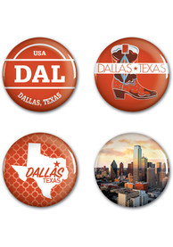 Dallas Ft Worth 4 Pack Buttons Button