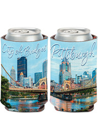 Pittsburgh 12oz River Skyline Can Cooler Coolie