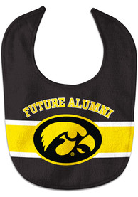 Iowa Hawkeyes Baby Future Alumni Bib - Black