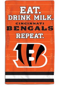 Cincinnati Bengals Baby Eat Drink Milk Bib - Orange