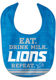 Detroit Lions Baby Eat Drink Milk Bib - Blue