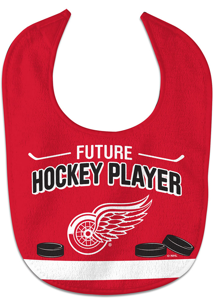 Detroit Red Wings Future Hockey Player Baby Bib - Image 1