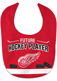 Detroit Red Wings Baby Future Hockey Player Bib - Red