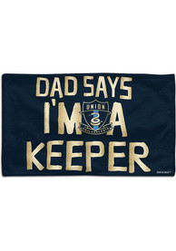 Philadelphia Union Baby Dad Says Im a Keeper Bib - Blue