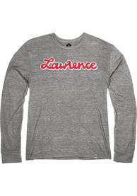 Lawrence Heather Grey Script Long Sleeve T Shirt