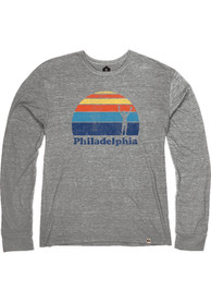 Philadelphia Heather Grey Rocky Sunset Long Sleeve T Shirt
