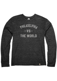 Philadelphia Heather Black VS The World Long Sleeve T Shirt