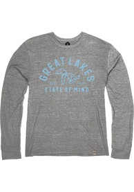 Michigan Heather Grey Great Lakes State of Mind Long Sleeve T Shirt