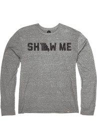 Missouri Heather Grey Show Me Long Sleeve T Shirt