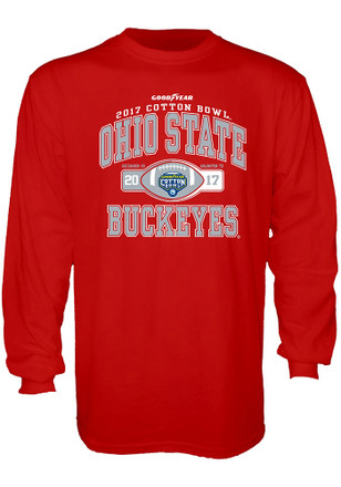 Ohio State Buckeyes Mens Red Tail Side Tee